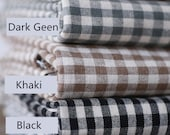British England Cotton Linen Check Fabric Plaid Fabric for DIY Photo Background Cloth Table Runner Cushion Cover Home Decor Half Yard