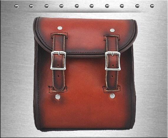 La Rosa Vintage Shedron cuir Harley universelle montage Sissy Bar Mount sac