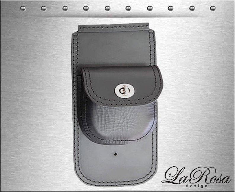1984-1999 La Rosa Black Leather Black Flame Stitch Harley Softail Dash Extension