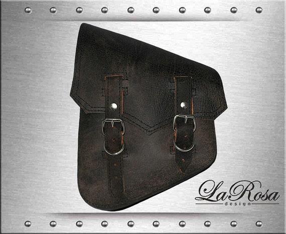 Rustic Black Leather Cross Lace La Rosa HD VRSCDX VRSCAW VRSCA VRSCB Saddlebag