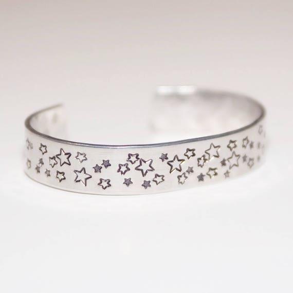 Star metal stamped cuff bracelet; metal stamped bracelet; cuff bracelet; star bracelet; stamped jewelry; star jewelry; western; star; boho