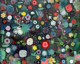Imaginary garden 60x60cm