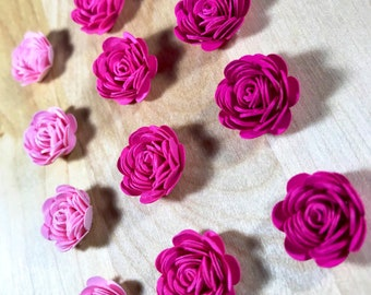 Quilled roses etsy quilled paper roses pink assortment mightylinksfo