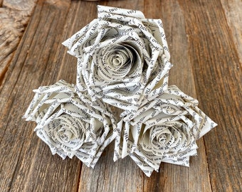 3 Book Page Rose Sampler, bouquet add in or gift