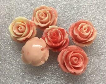 20pcs 20mm Shell Flower Beads Carved Flower Beads HG008