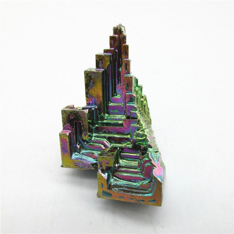Rainbow Bismuth,Crystal Bismuth,Metaphysical Metal Healing Stone,Display Teaching Lab Grown WD045