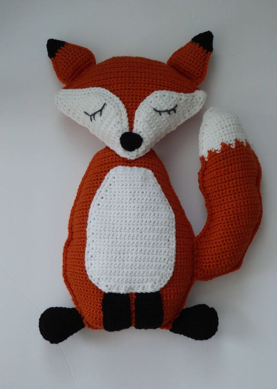 Fox Stoffpuppe Puppe Amigurumi Fuchs Häkeln Fuchs Rag Doll Etsy