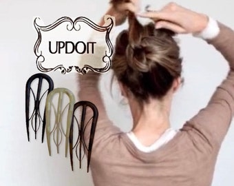Best Hair Accessory for Updos, hair clip, fork, hair pin, hair accessory, stick, comb, simple, updo, wedding, prom, easy, Updoit versatile