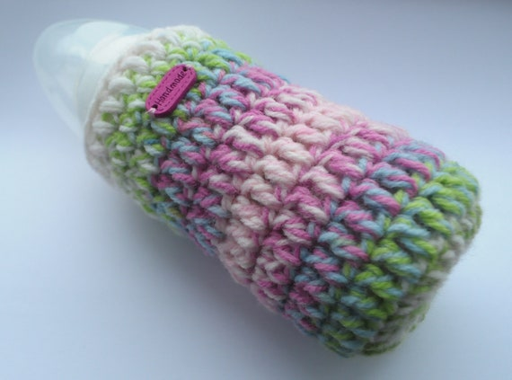 handmade crochet personalised baby bottle cover tommee tippee dr brown MAM