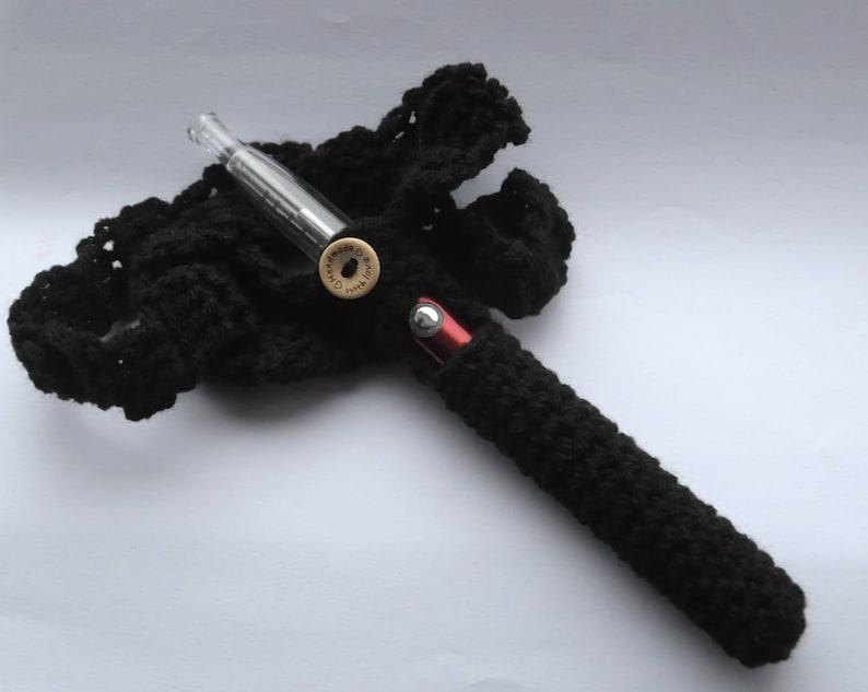 Black eCig Pouch, Electronic Cigarette Holder, Vape Carry Case, Vaping  Accessory
