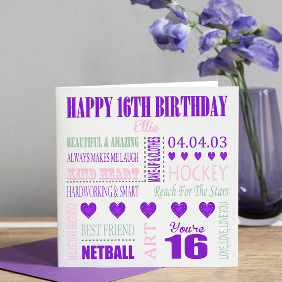 Geburtstag karte 16