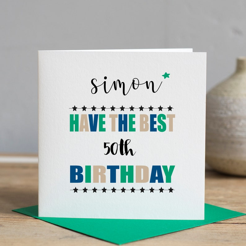 50th Birthday Card Husband Personalised