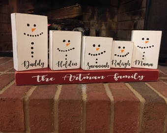 Personalized Christmas Gifts.Snowman Family Gift Etsy