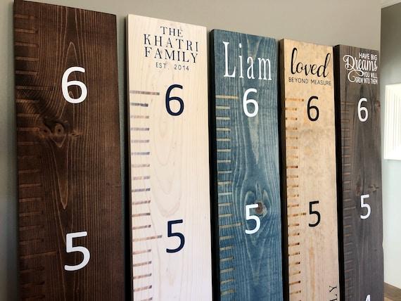 66 wooden growth chart ruler