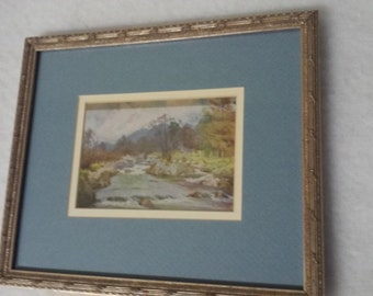 Vintage Reproduction Water Color By .A.Heaton Cooper (1863-1929)