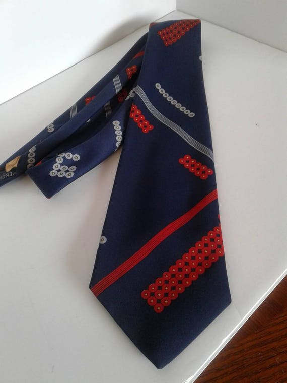 Vintage Givenchy Men's Tie Mod 1960's to 70's