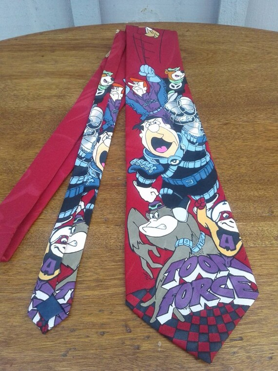 Vintage 1994 Toon Force Lakeside Apparel Necktie