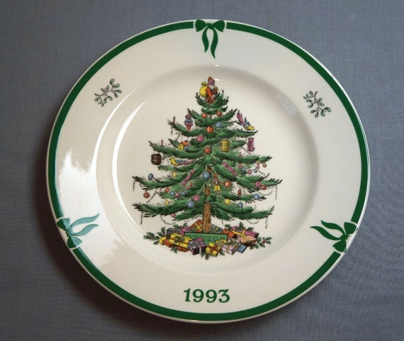 Spode Christmas Plates.Spode Christmas Tree Year Plate 1993 Made In England