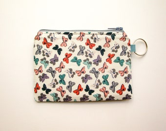 Butterfly Zipper Coin Purse Butterfly pouch CreditBusiness Card Case Gift Card Holder Gift For Butterfly lovers