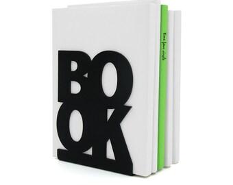 Buchstütze BookOne schwarz oder weiß, modernen und minimalistischen Stil.