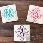 Yeti Decal | Monogrammed Decal | Yeti Cup Decal | Initial Decal | RTIC decal | Corkcicle decal | Swell Monogram
