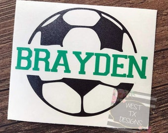 Soccer Decal | Personalized Soccer Ball | Soccer Sticker | Soccer ball decal | Car Decal | Sports Decal | Personalized Soccer ball