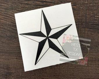 Texas Star Decal | Texas Decal | Star Sticker | Texas Star | Tumbler Decal | Car Window Decal | Star Decal