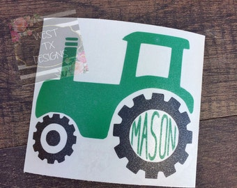 Tractor Decal | Tumbler Decal | Monogram Decal | Farmer Decal | Decal for Men | Decal for Boys | Cup Decal | Personalized Decal