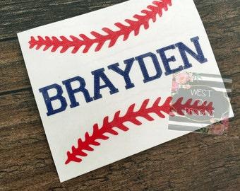 Personalized Baseball | Baseball Sticker | Sports Decal | Baseball Decal | Yeti Decal | Car Decal
