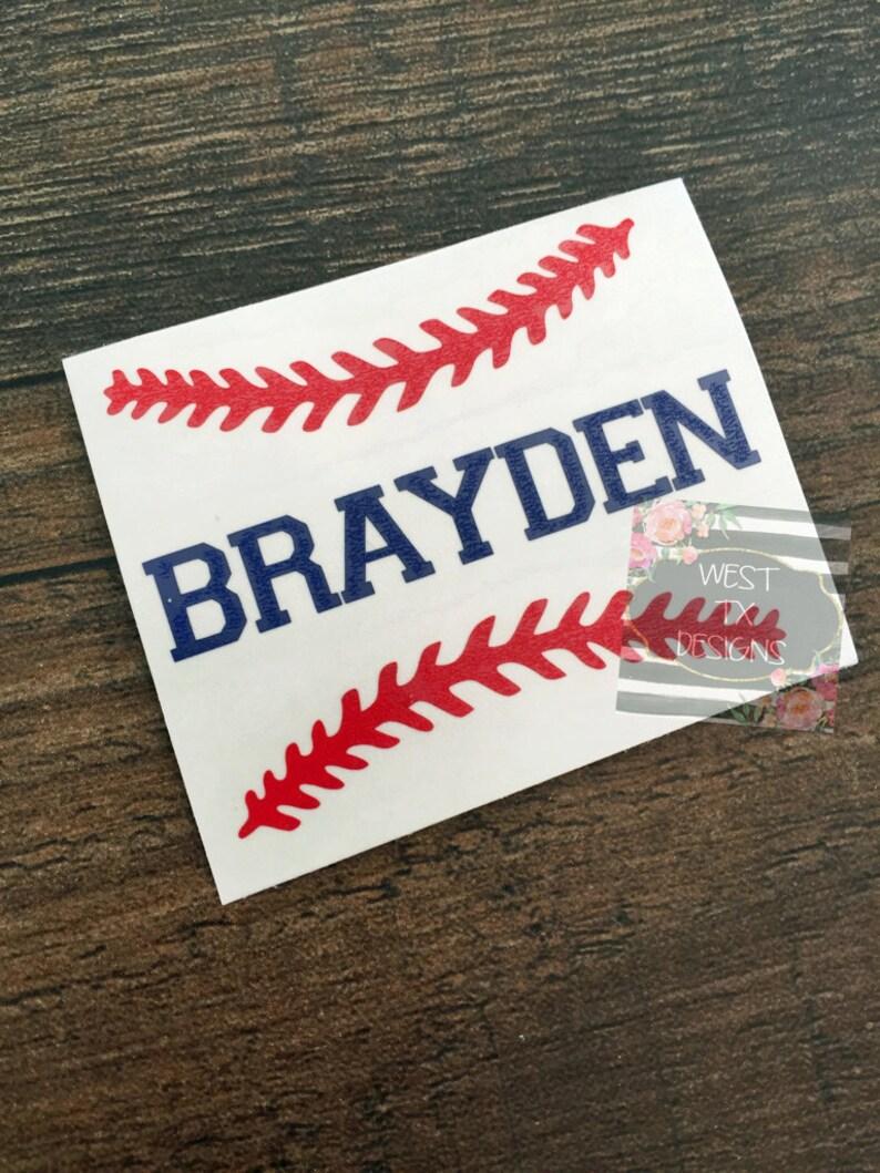 Personalized Baseball  Baseball Sticker  Sports Decal  image 0