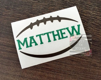 Personalized Football | Football Sticker | Sports Decal | Football Decal | Tumbler Decal | Car Decal | Football Team Decal