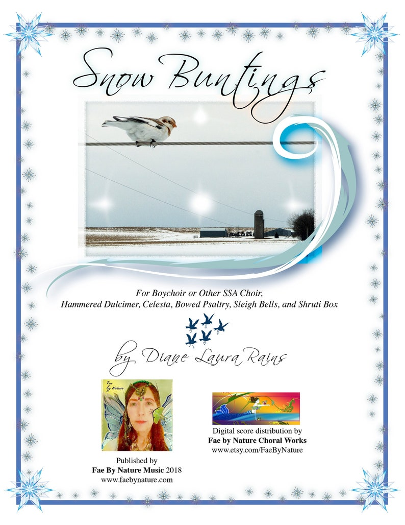 SNOW BUNTINGS  choral score digital pdf  limited license to image 0
