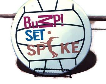 volleyball sign, sports decor, girls room decor, wall art, girls sports decor, rustic wall hanging, team sport, athletics