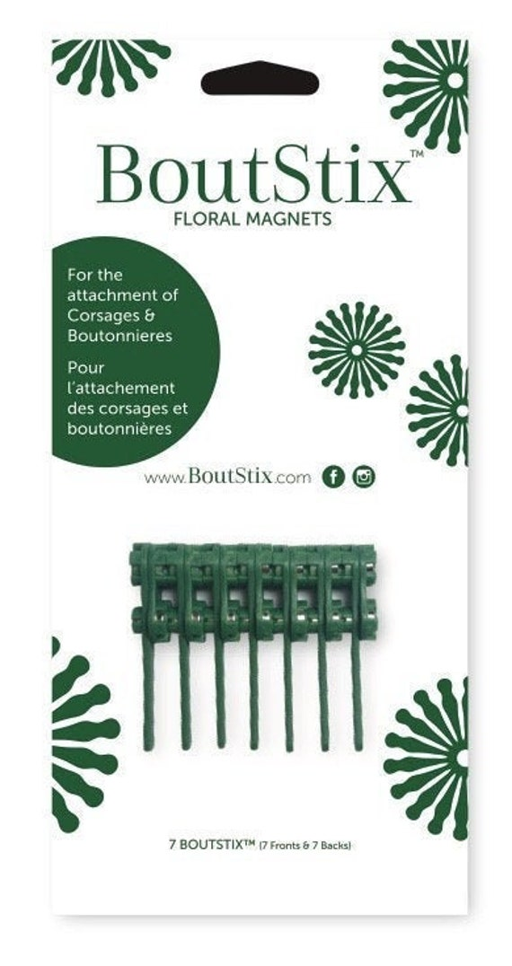 Free Shipping in CAN and USA! 7 BoutStix Units One Package of 7 Boutstix Floral Magnets