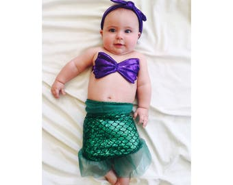 Baby Complete Mystic Mermaid Set Mermaid Costume Mermaid Mermaid Set Halloween Costume Birthday Outfit Mermaid Outfit Ariel Costume  sc 1 st  Etsy : toddler mermaid halloween costume  - Germanpascual.Com