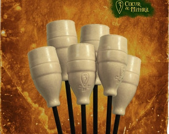 Larp arrows White x6