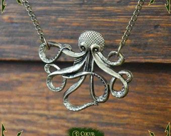Necklace octopus pendant