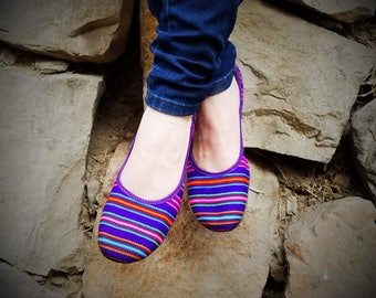 Size 9 Purple Lliclla Andean Flats