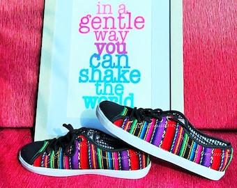 Size 7 Peruvian Lliclla Andean Sneakers