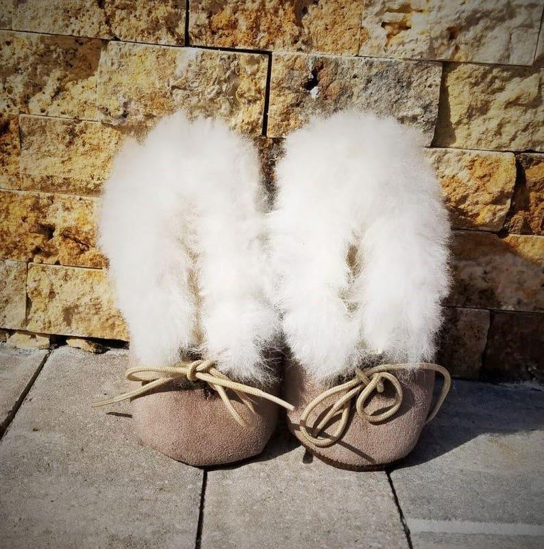 fe307675336 100% Alpaca Suede Slipper Child Size 9.5