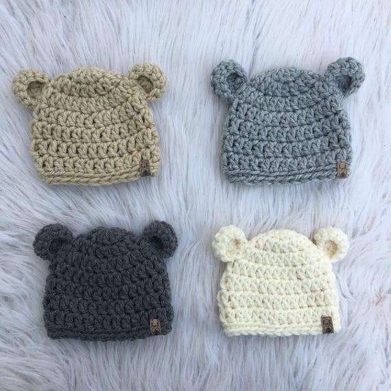 Tuque ours Chapeau de bébé Chapeau nouveau-né CHOISISSEZ   Etsy e48212fa01d