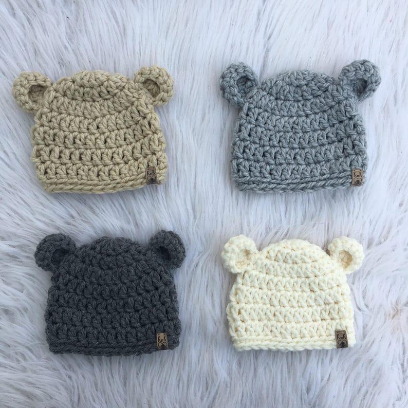 8fb5245599d Tuque ours Chapeau de bébé Chapeau nouveau-né CHOISISSEZ