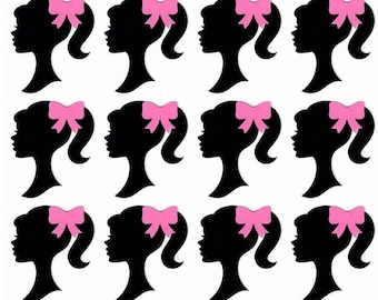 graphic relating to Free Printable Barbie Silhouette titled Barbie silhouette Etsy