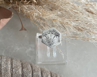Daisy, sterling stacker ring, floral ring, flower ring, botanical jewellery