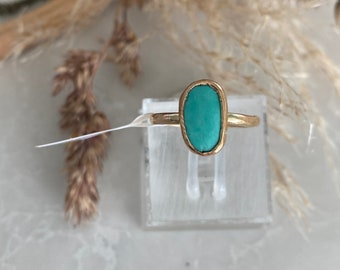 Lightning, gold stacker ring, gold turquoise ring, green turquoise ring, blue turquoise ring, natural turquoise ring