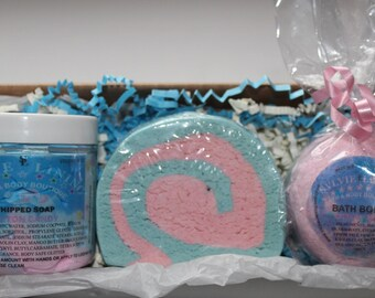 Bath And Body Set / Bath Bomb / Bubble Bar / Whipped Body Soap