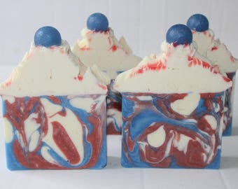 Red White And Blue Balls Soaps / Vegan Friendly Soap