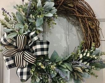 Wreaths Front Door Etsy