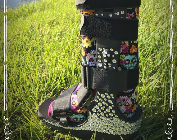 Blinged out Walking Boot