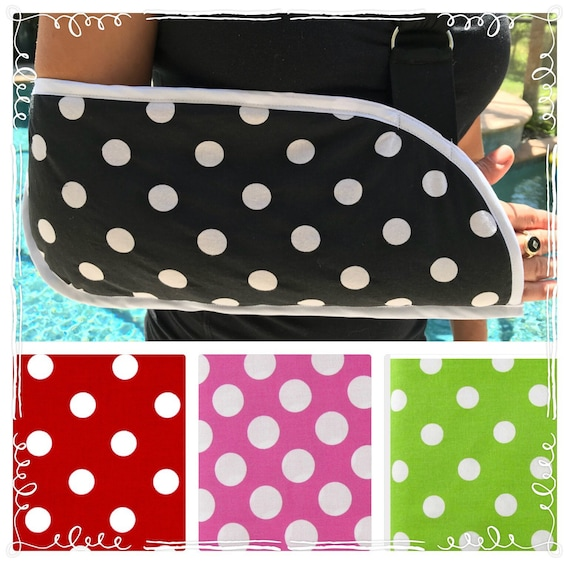 Polka Dot Arm Sling - child arm sling - toddler arm sling - adult arm sling